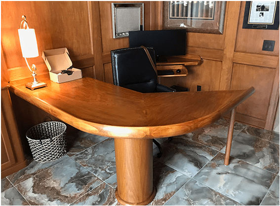 custom built desk build by FAH